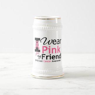 Llevo el rosa para mi amigo jarra de cerveza