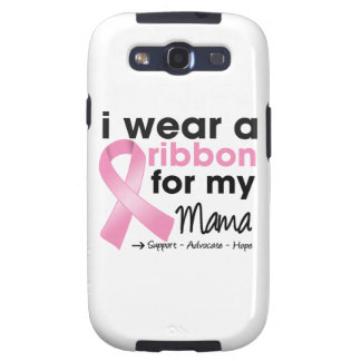 Llevo el rosa para mi cáncer de la mamá pecho samsung galaxy s3 cárcasas