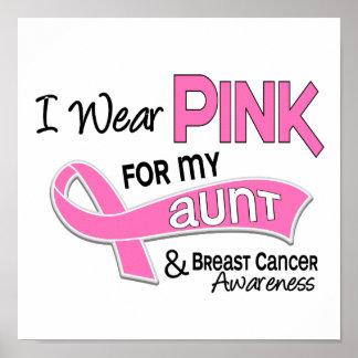 Llevo el rosa para mi cáncer de la tía 42 pecho póster