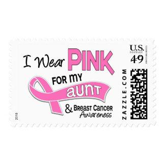 Llevo el rosa para mi cáncer de la tía 42 pecho sello