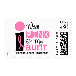 Llevo el rosa para mi cáncer de la tía 9 pecho sello