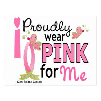 Llevo el rosa para mí cáncer de pecho 27 postales
