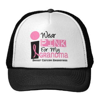 Llevo el rosa para mi cáncer de pecho de la abuela gorras