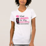 Llevo el rosa para mi cáncer de pecho de la abuela camisetas