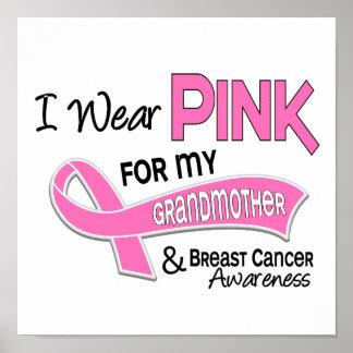 Llevo el rosa para mi cáncer de pecho de la abuela póster