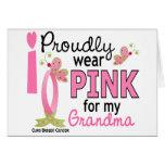 Llevo el rosa para mi cáncer de pecho de la abuela felicitacion