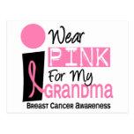 Llevo el rosa para mi cáncer de pecho de la abuela postal