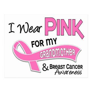 Llevo el rosa para mi cáncer de pecho de la abuela tarjeta postal