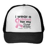 Llevo el rosa para mi cáncer de pecho de la cuñada gorras