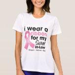 Llevo el rosa para mi cáncer de pecho de la cuñada camiseta