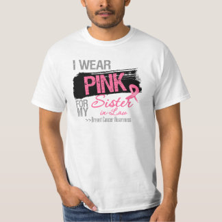 Llevo el rosa para mi cáncer de pecho de la cuñada playera