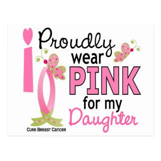 Llevo el rosa para mi cáncer de pecho de la hija tarjeta postal