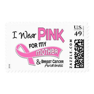 Llevo el rosa para mi cáncer de pecho de la madre sello postal
