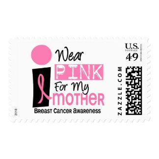 Llevo el rosa para mi cáncer de pecho de la madre timbre postal