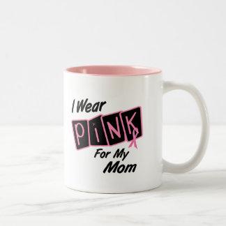 Llevo el rosa para mi cáncer de pecho de la mamá 8 taza de café