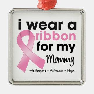 Llevo el rosa para mi cáncer de pecho de la mamá adorno