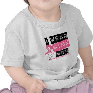 Llevo el rosa para mi cáncer de pecho de la mamá camisetas