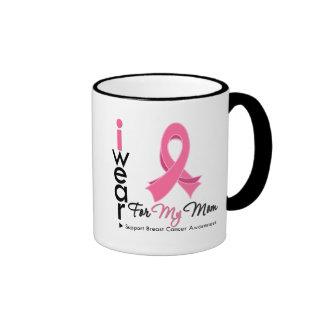 Llevo el rosa para mi cáncer de pecho de la mamá taza de café