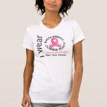 Llevo el rosa para mi cáncer de pecho de la nieta camisetas