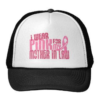 Llevo el rosa para mi cáncer de pecho de la suegra gorro de camionero