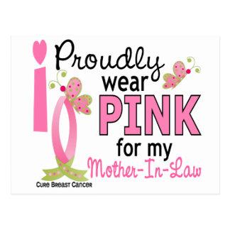 Llevo el rosa para mi cáncer de pecho de la suegra postales