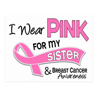 Llevo el rosa para mi cáncer de pecho de la tarjetas postales