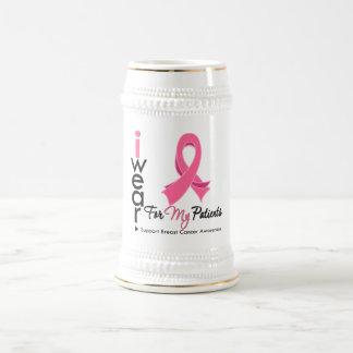 Llevo el rosa para mi cáncer de pecho de los pacie taza de café