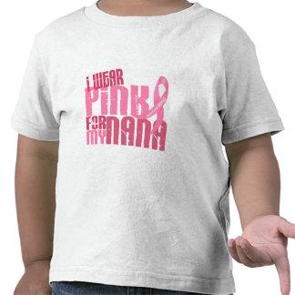 Llevo el rosa para mi cáncer de pecho de Nana 6,4 Camiseta