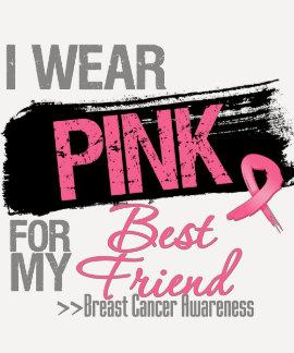 Llevo el rosa para mi cáncer de pecho del mejor camisetas