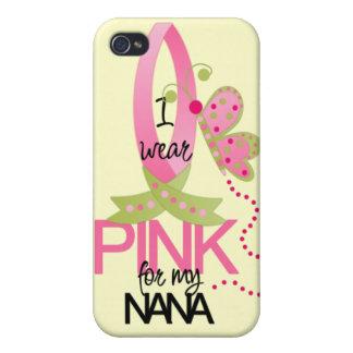 Llevo el rosa para mi caso del iphone 4 de Nana iPhone 4 Protectores