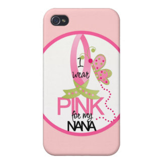 Llevo el rosa para mi caso del iphone 4 de Nana iPhone 4 Cárcasa