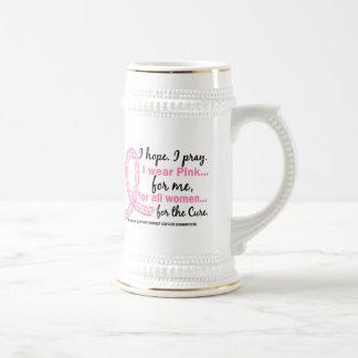 Llevo el rosa para MÍ cinta rosada afiligranada Tazas De Café