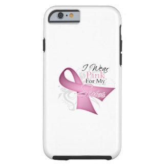 Llevo el rosa para mi conciencia del cáncer de funda resistente iPhone 6