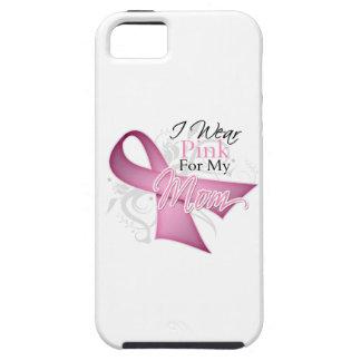 Llevo el rosa para mi conciencia del cáncer de iPhone 5 funda