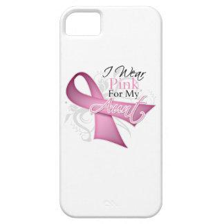 Llevo el rosa para mi conciencia del cáncer de la  iPhone 5 carcasa