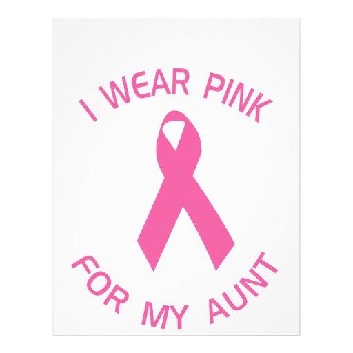 Llevo el rosa para mi conciencia del cáncer de la  membrete
