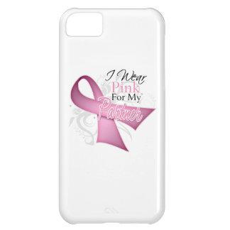 Llevo el rosa para mi conciencia del cáncer de pec funda para iPhone 5C