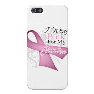 Llevo el rosa para mi conciencia del cáncer de pec iPhone 5 funda