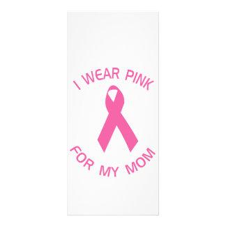Llevo el rosa para mi conciencia del cáncer de pec lonas personalizadas
