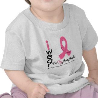Llevo el rosa para mi gran cáncer de pecho de la camisetas