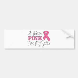 Llevo el rosa para mi hermana (versión rosada de l pegatina para auto