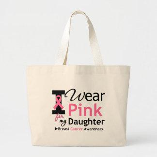 Llevo el rosa para mi hija bolsa lienzo
