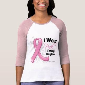 Llevo el rosa para mi hija - cáncer de pecho playera