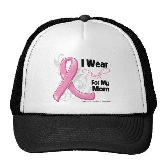 Llevo el rosa para mi mamá - conciencia del cáncer gorras