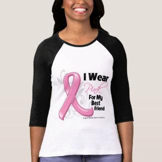 Llevo el rosa para mi mejor amigo - cáncer de camiseta