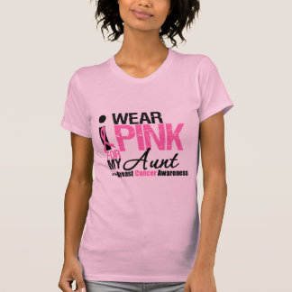Llevo el rosa para mi tía camiseta