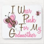 Llevo el rosa para mis camisetas del CÁNCER de PEC Tapetes De Ratones