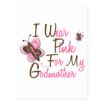 Llevo el rosa para mis camisetas del CÁNCER de Postal