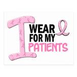 Llevo el rosa para mis pacientes 21 camisetas del postal