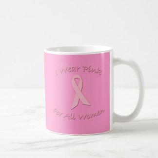 Llevo el rosa para todos los productos de las muje taza de café